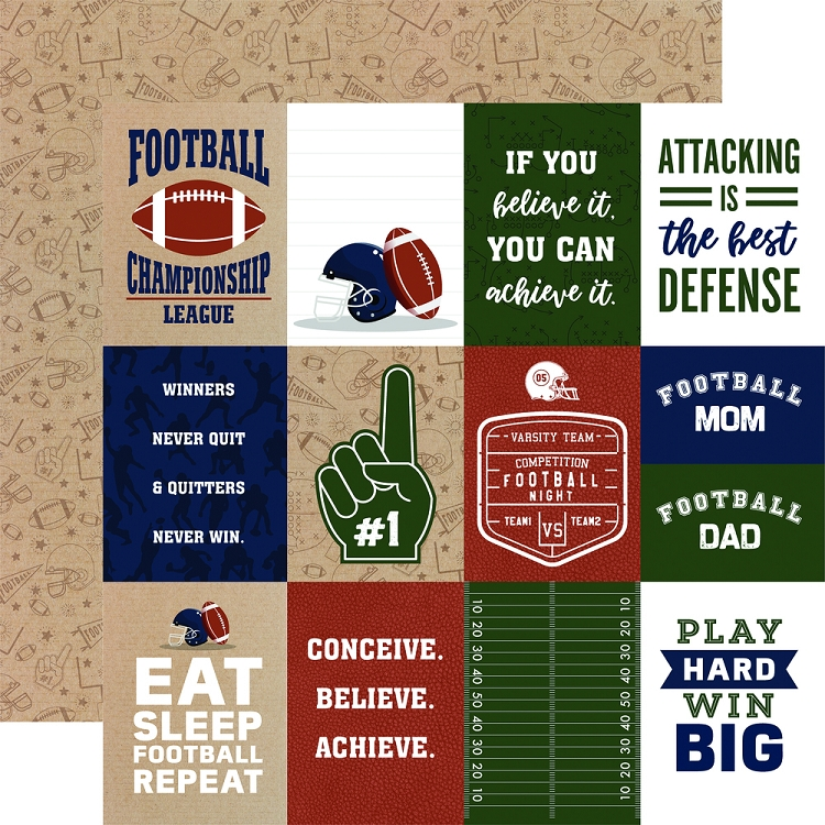EP Football 3x4 Journaling Cards