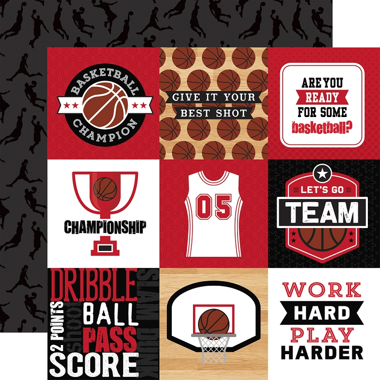 EP Basketball 4x4 Journaling Cards