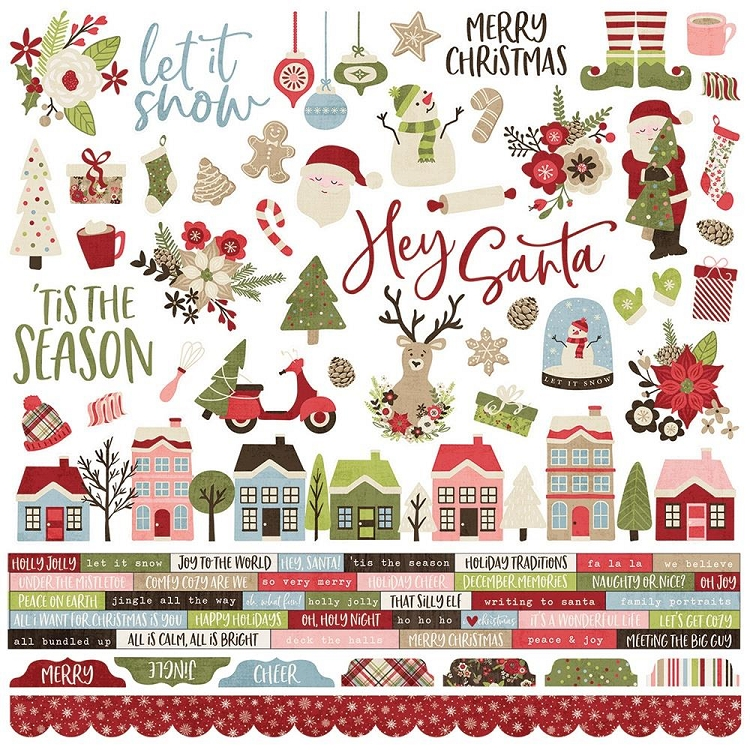 Holly Jolly Combo Sticker Sheet