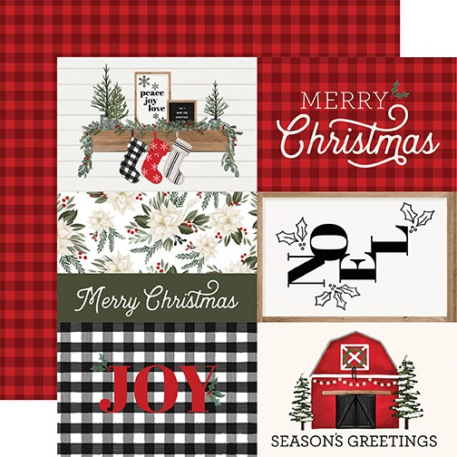 CB Farmhouse Christmas - 4x6 Journaling Cards