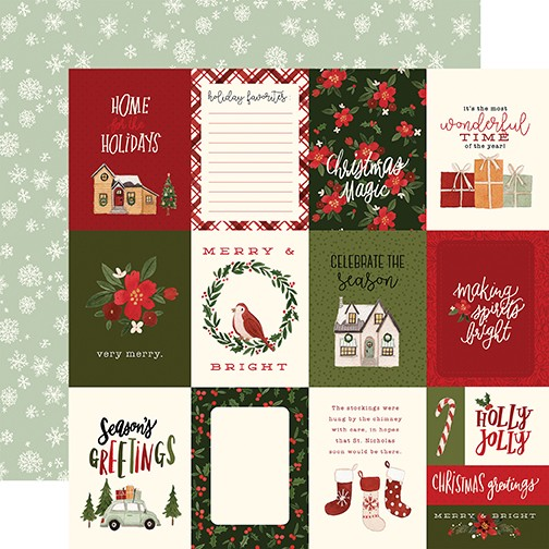 CB Hello Christmas - 3x4 Journaling Cards