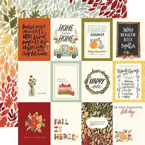 CB Hello Autumn -3x4 Journaling Cards