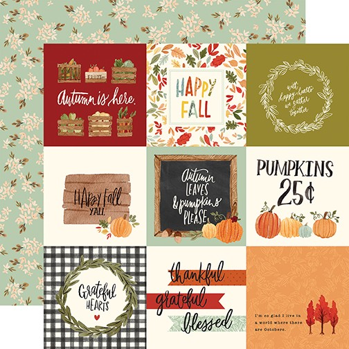CB Hello Autumn - 4x4 Journaling Cards