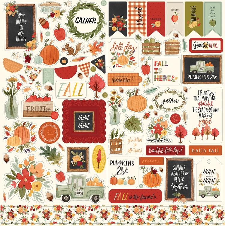 CB Hello Autumn - Element Sticker Sheet