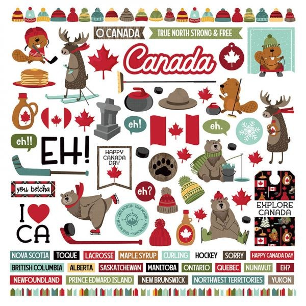 PP O Canada 2 Sticker Sheet 12x12