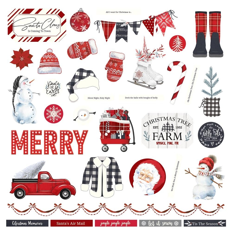 PP Christmas Cheer - Element Sticker Sheet 12x12