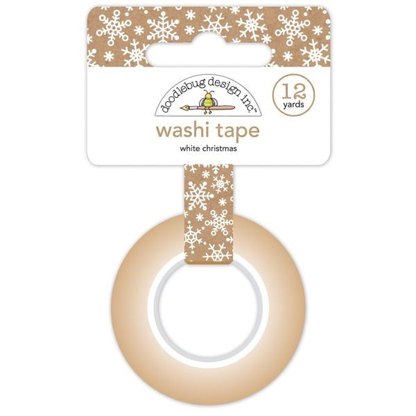 Doodlebug Christmas Town Washi Tape White Christmas